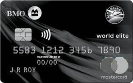 Card for Carte Mastercard BMO AIR MILES World Elite