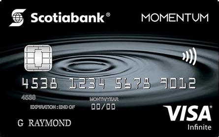 Card for Carte Visa Infinite Momentum Scotia