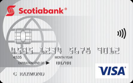 Card for Carte Visa minima Scotia