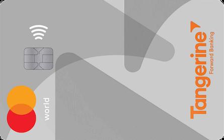 Card for World Mastercard Tangerine