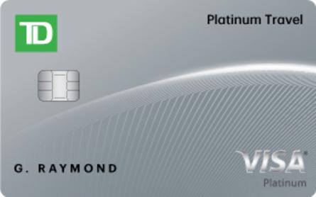 Card for Carte Visa TD Platine Voyages