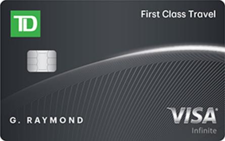 Card for Carte Visa Infinite TD Classe ultime Voyages