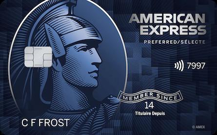 Card for Carte sélecte RemiseSimple d'American Express