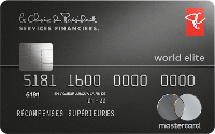 Card for World Elite Mastercard PC Finance