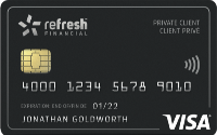 Card for Refresh Financial Carte avec garantie